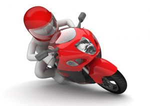 Biker close-up (3d isolated on white background characters series)